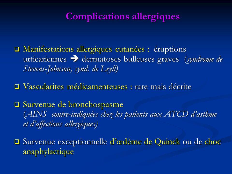 Complications allergiques