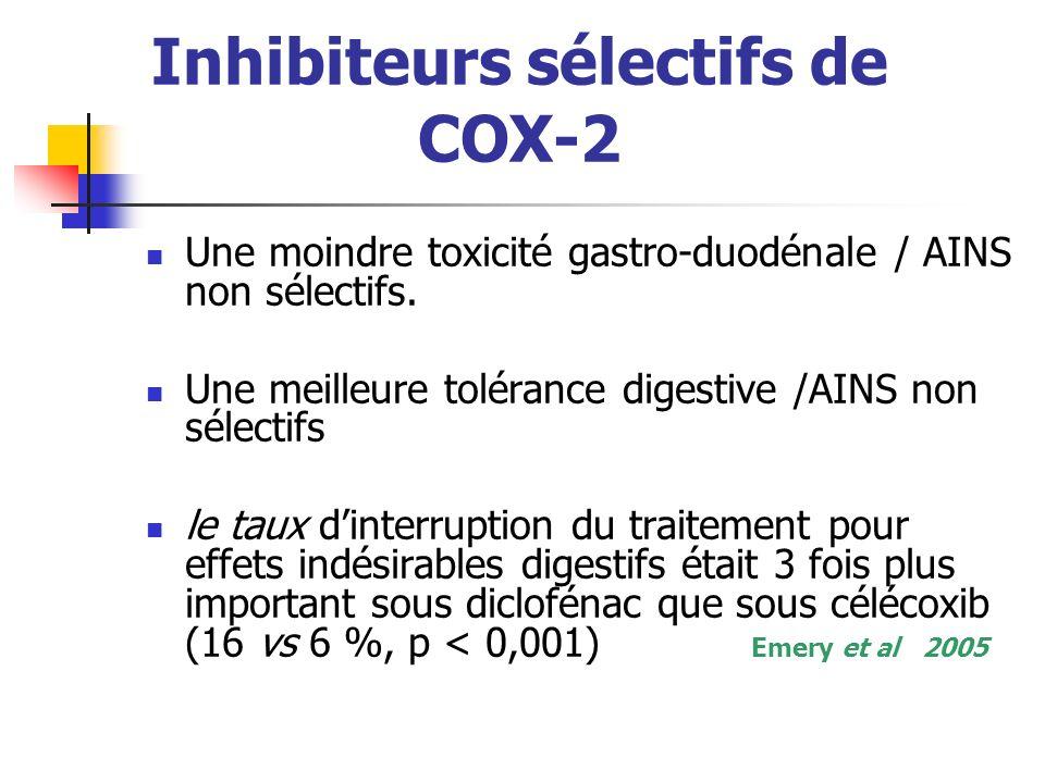 Inhibiteurs sélectifs de COX-2