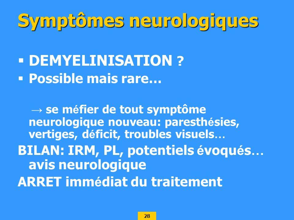Symptômes neurologiques
