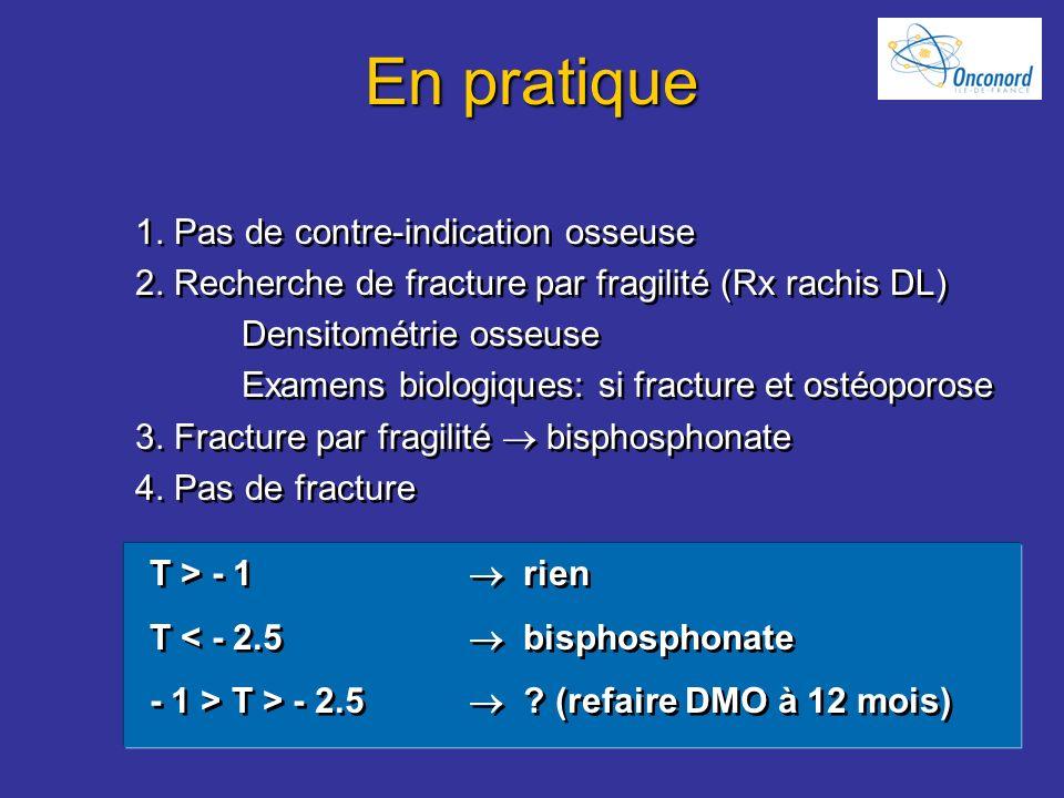 En pratique 1. Pas de contre-indication osseuse