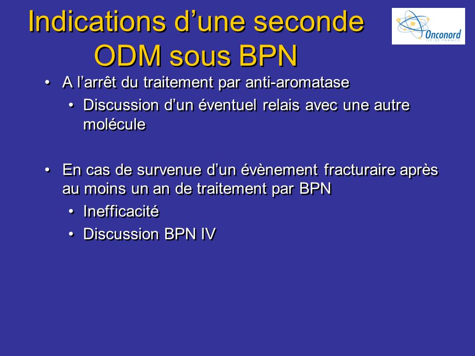 Indications d'une seconde ODM sous BPN