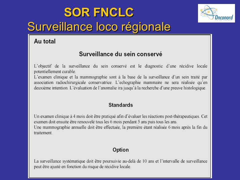 SOR FNCLC Surveillance loco régionale