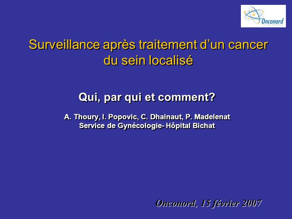 Surveillance après traitement d'un cancer du sein localisé