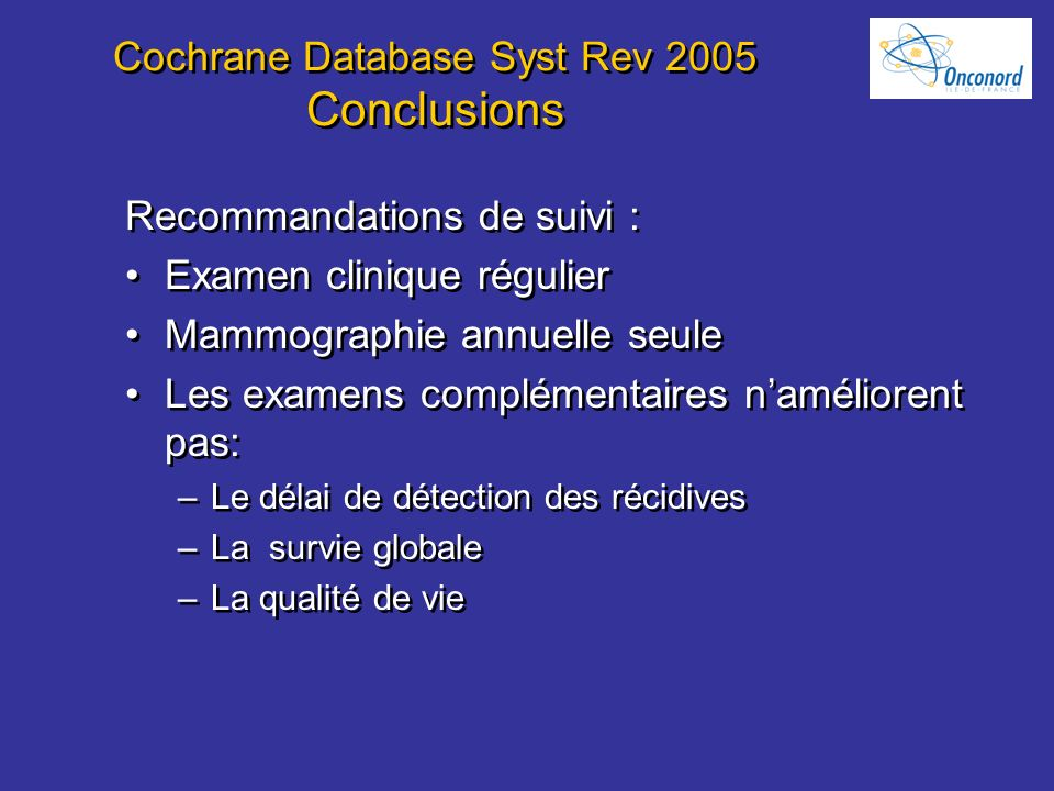 Cochrane Database Syst Rev 2005 Conclusions