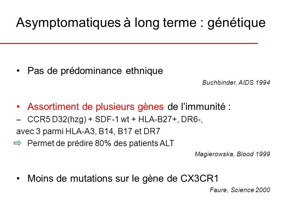 Asymptomatiques à long terme : génétique
