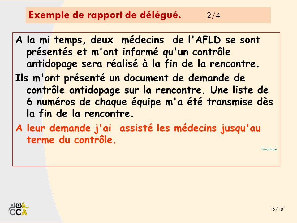 Exemple de rapport de délégué. 2/4
