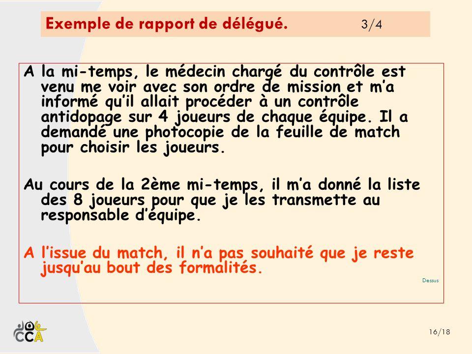 Exemple de rapport de délégué. 3/4