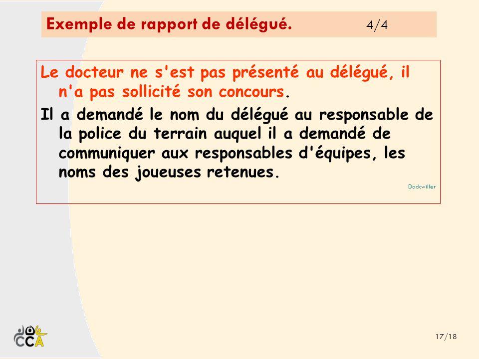 Exemple de rapport de délégué. 4/4