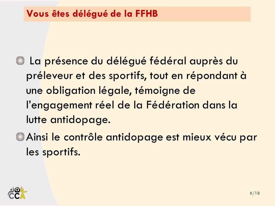 Vous êtes délégué de la FFHB