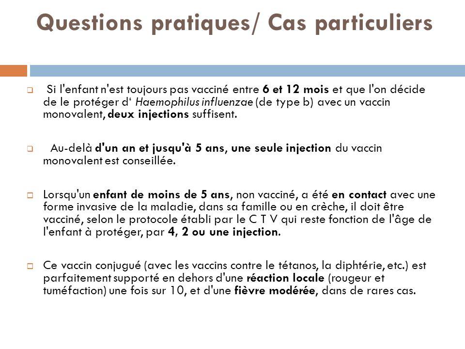 Questions pratiques/ Cas particuliers