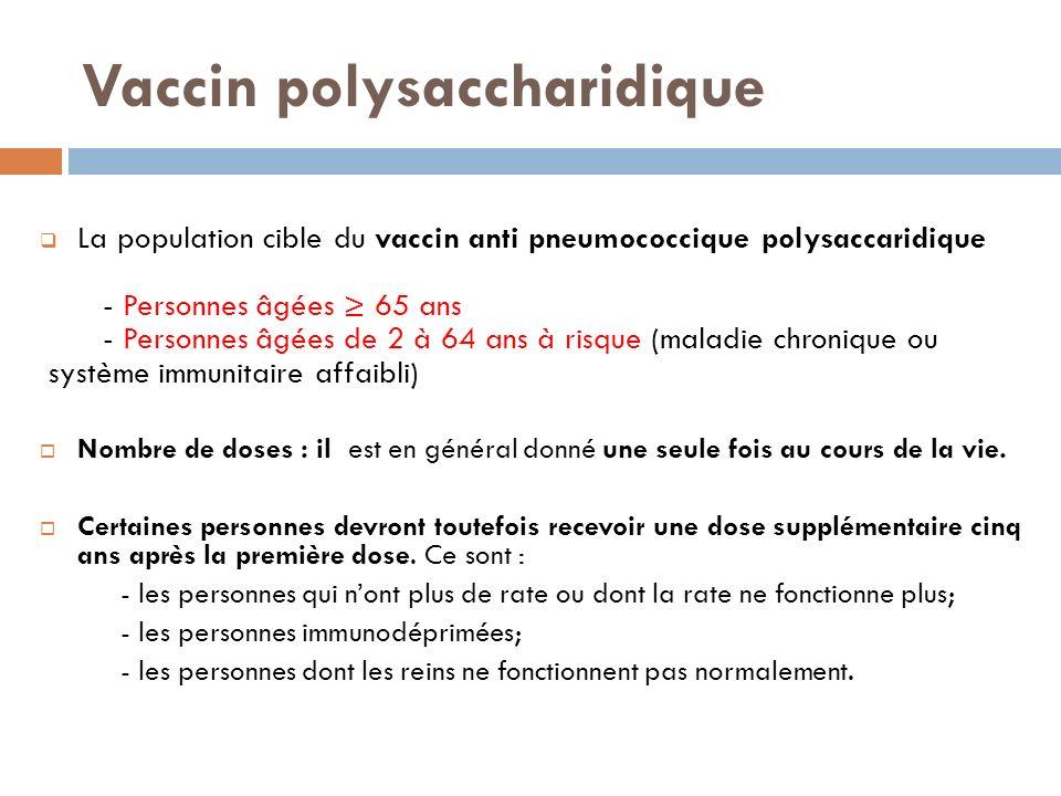 Vaccin polysaccharidique