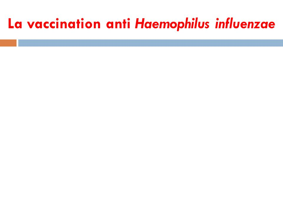 La vaccination anti Haemophilus influenzae