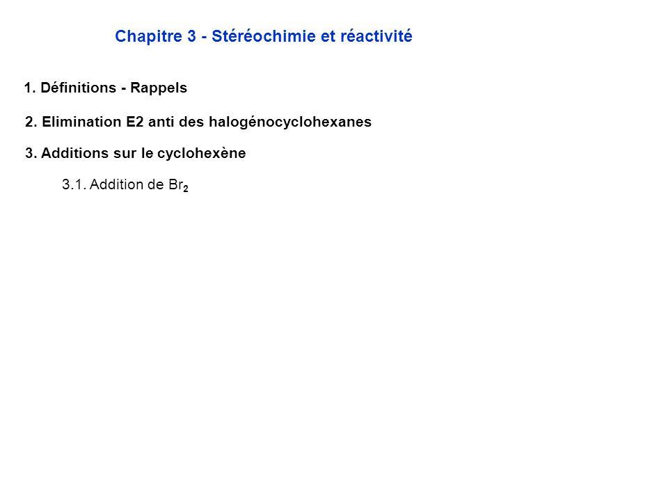 Chapitre 3 - Stéréochimie et réactivité