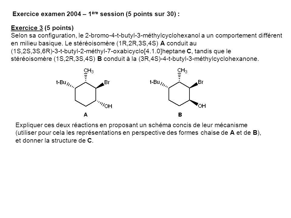 Exercice examen 2004 – 1ère session (5 points sur 30) :