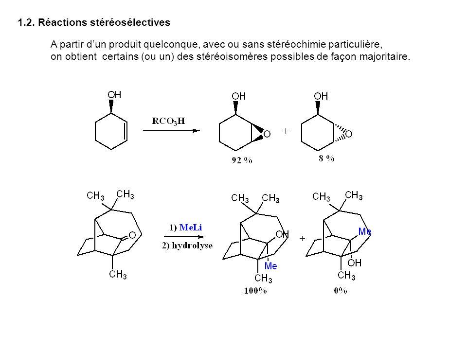 1.2. Réactions stéréosélectives