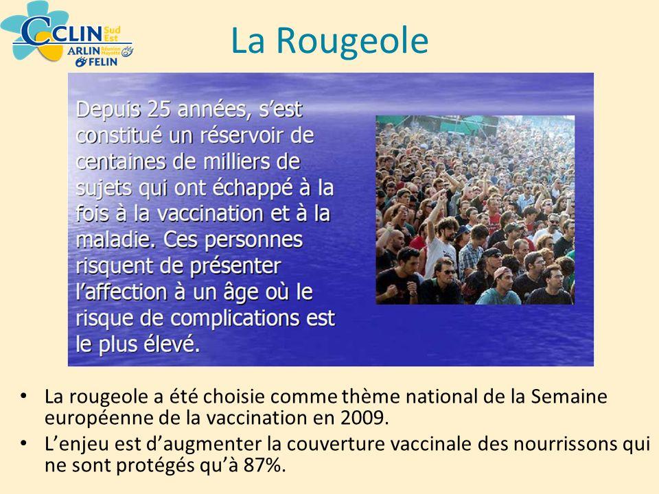 La Rougeole La rougeole a été choisie comme thème national de la Semaine européenne de la vaccination en 2009.