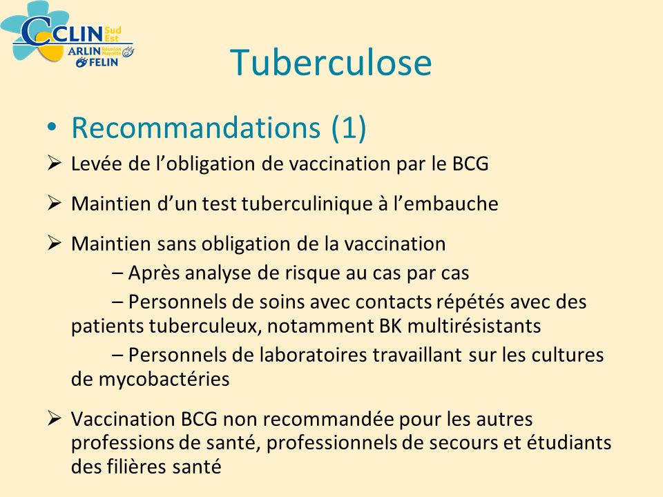 Tuberculose Recommandations (1)