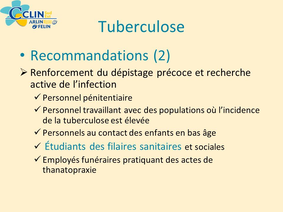Tuberculose Recommandations (2)