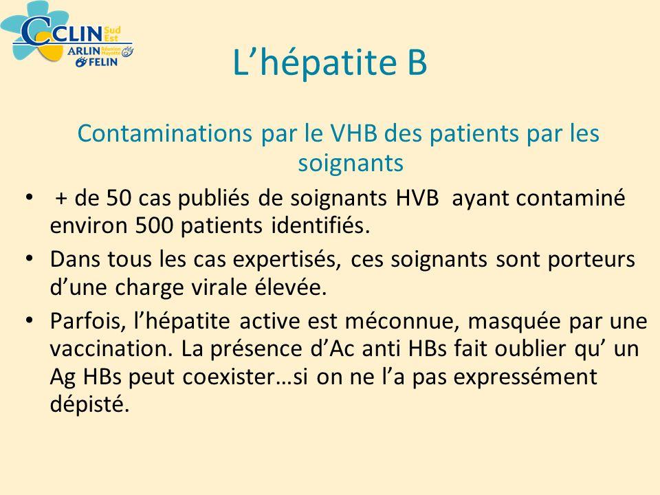 Contaminations par le VHB des patients par les soignants