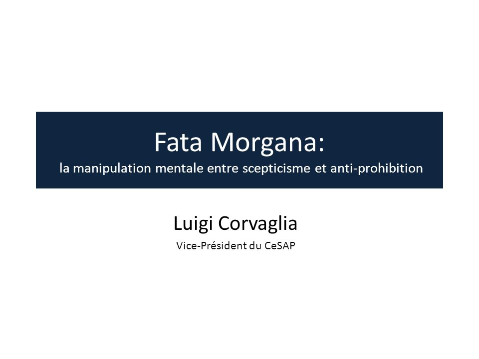 Luigi Corvaglia Vice-Président du CeSAP