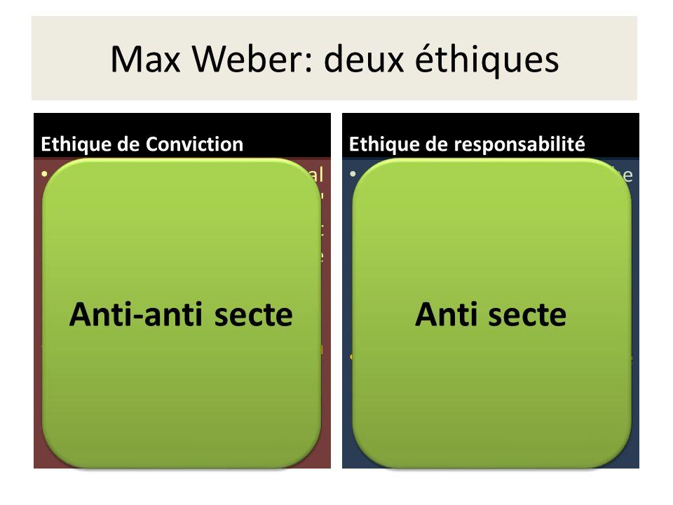 Max Weber: deux éthiques