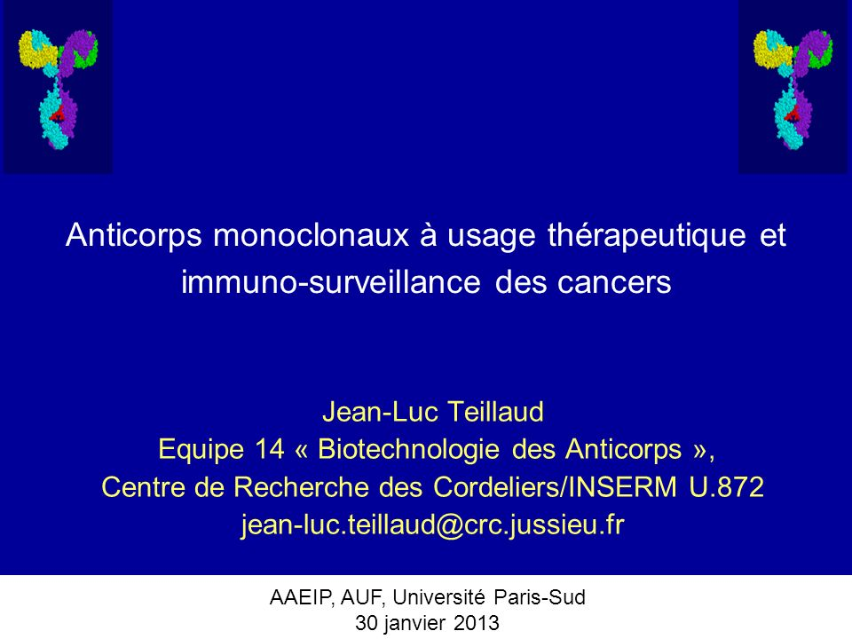 Anticorps monoclonaux à usage thérapeutique et immuno-surveillance des cancers