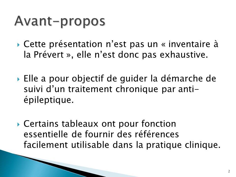 Avant-propos Cette présentation n'est pas un « inventaire à la Prévert », elle n'est donc pas exhaustive.