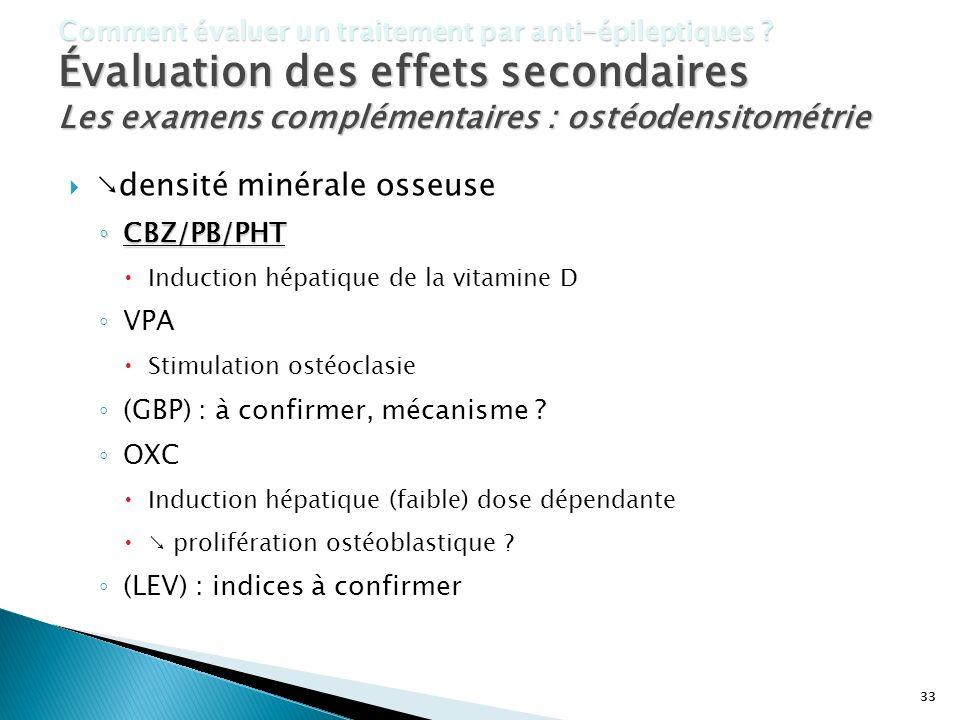 Les examens complémentaires : ostéodensitométrie