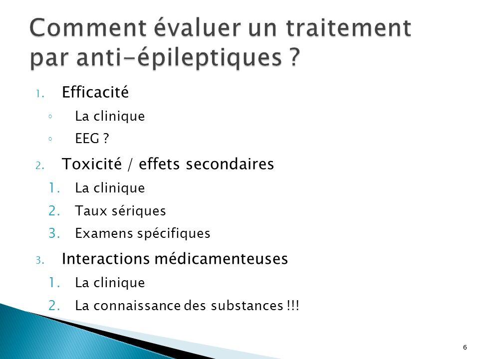 Comment évaluer un traitement par anti-épileptiques