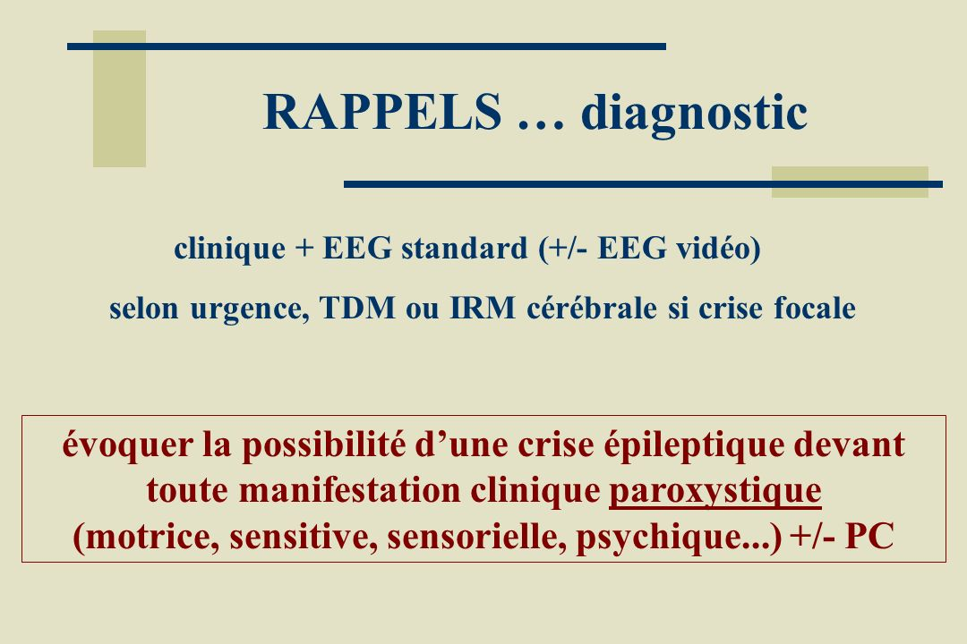 (motrice, sensitive, sensorielle, psychique...) +/- PC