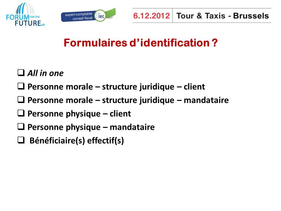Formulaires d'identification