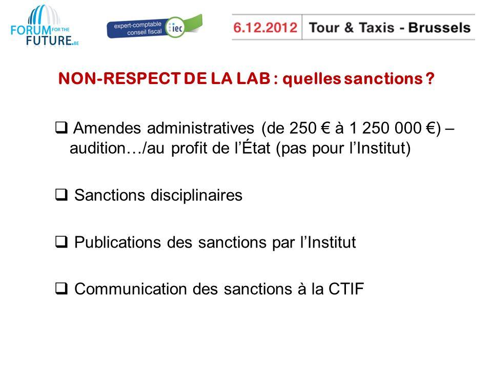 NON-RESPECT DE LA LAB : quelles sanctions