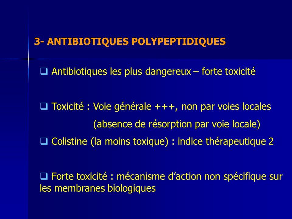 3- ANTIBIOTIQUES POLYPEPTIDIQUES