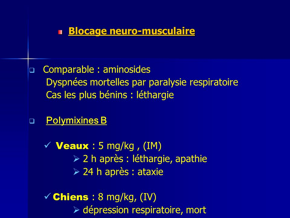 Blocage neuro-musculaire