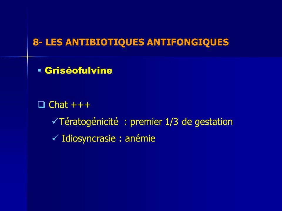 8- LES ANTIBIOTIQUES ANTIFONGIQUES