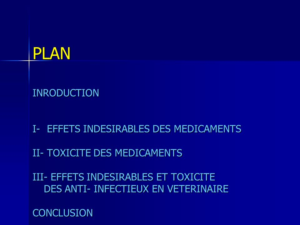 PLAN INRODUCTION I- EFFETS INDESIRABLES DES MEDICAMENTS