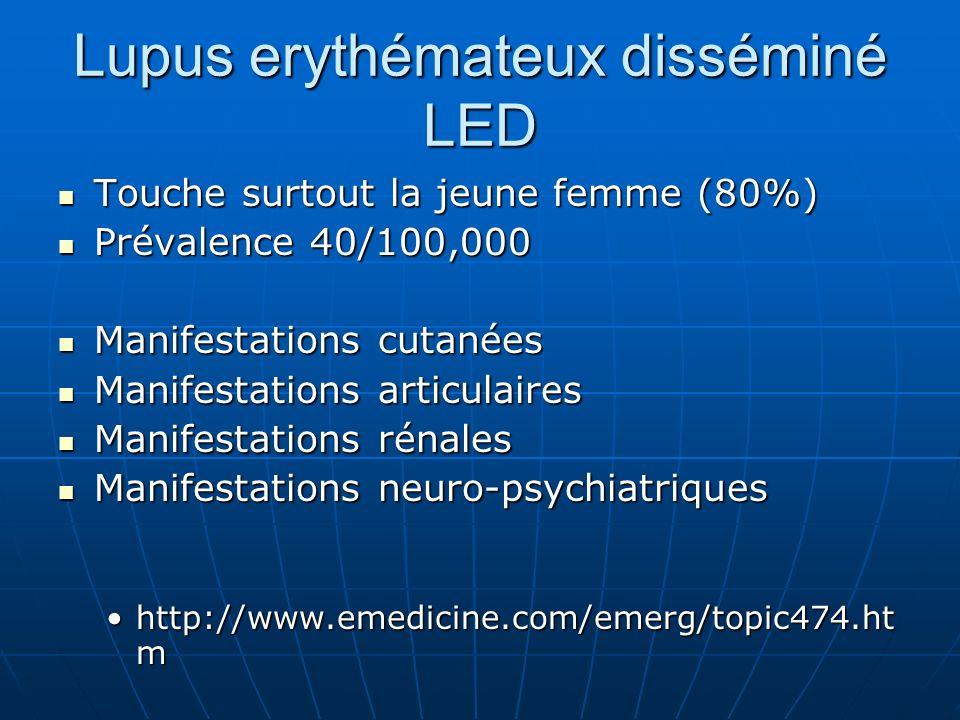 Lupus erythémateux disséminé LED