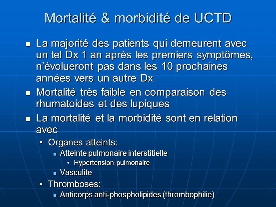 Mortalité & morbidité de UCTD