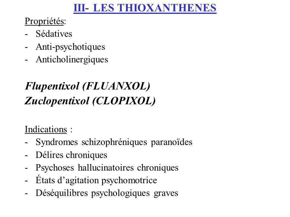 III- LES THIOXANTHENES