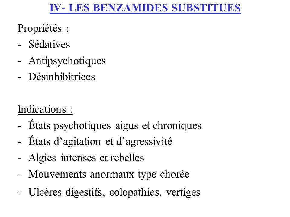 IV- LES BENZAMIDES SUBSTITUES