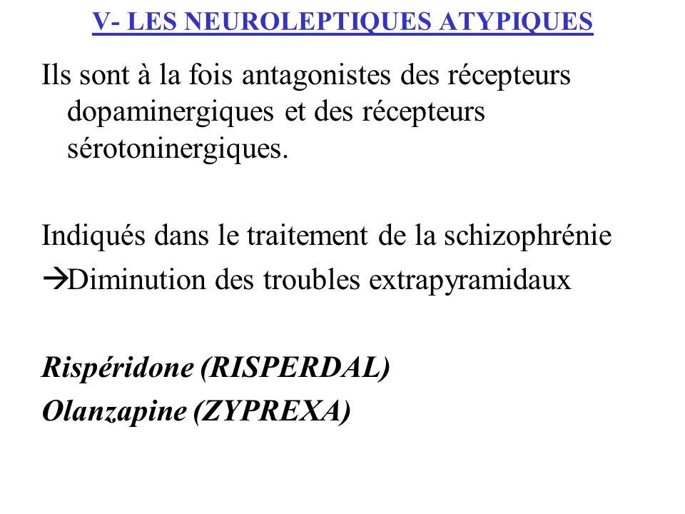 V- LES NEUROLEPTIQUES ATYPIQUES