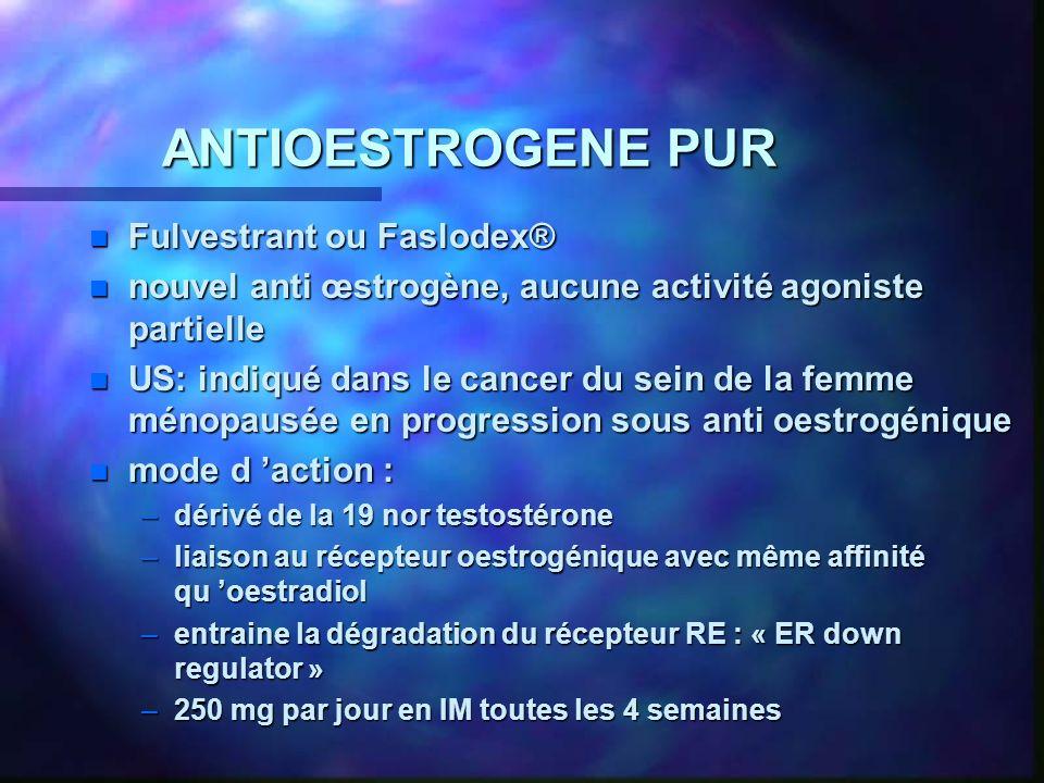 ANTIOESTROGENE PUR Fulvestrant ou Faslodex®