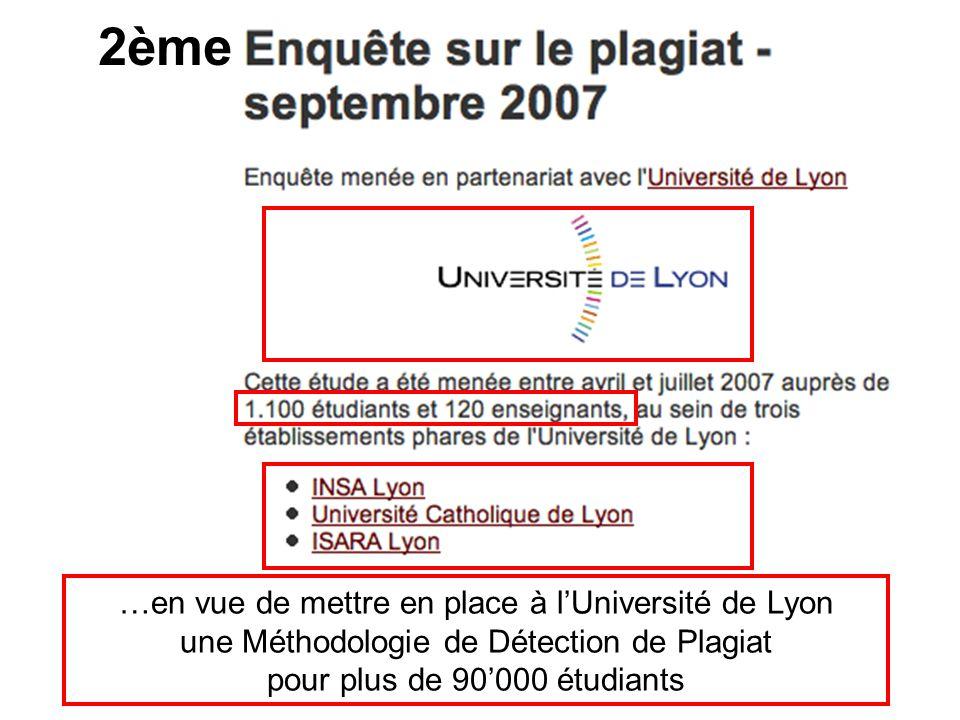 2ème …en vue de mettre en place à l'Université de Lyon