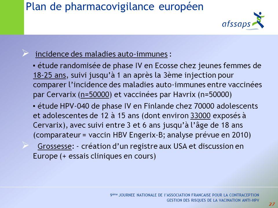 Plan de pharmacovigilance européen
