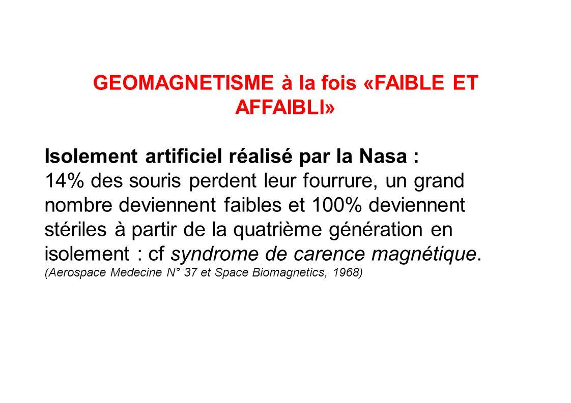 GEOMAGNETISME à la fois «FAIBLE ET AFFAIBLI»