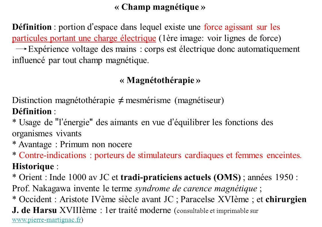« Champ magnétique »