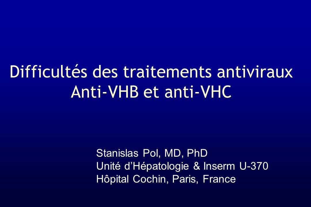 Difficultés des traitements antiviraux