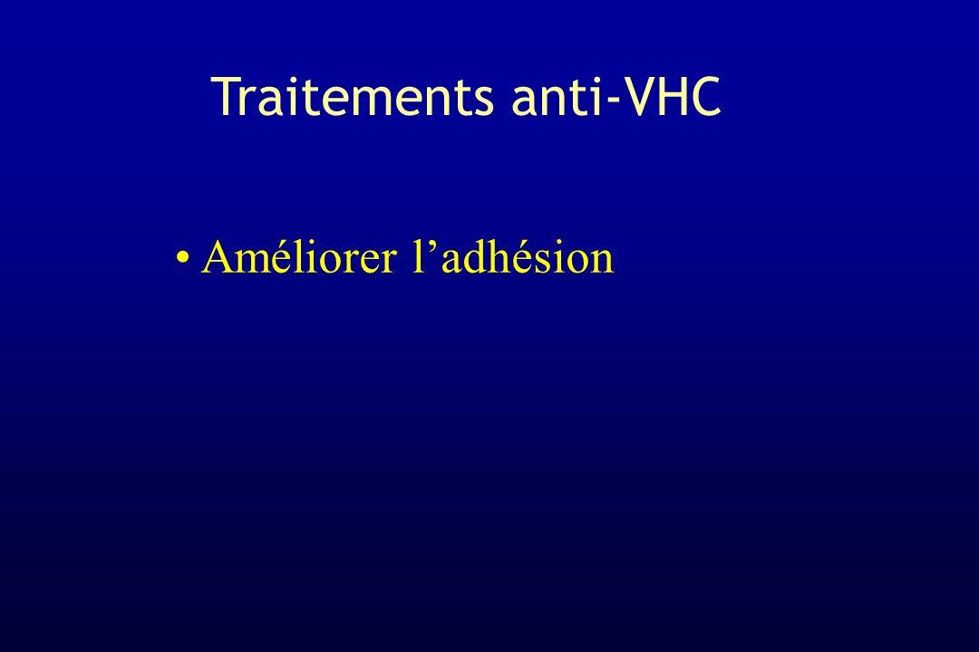 Traitements anti-VHC Améliorer l'adhésion