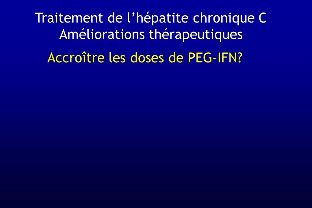 Traitement de l'hépatite chronique C Améliorations thérapeutiques