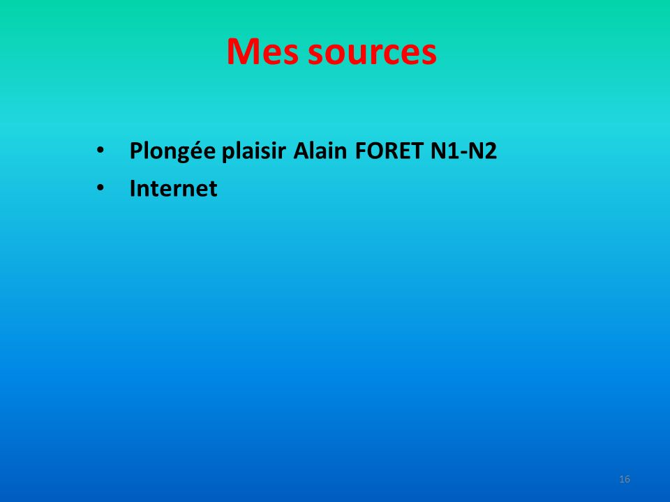 Plongée plaisir Alain FORET N1-N2 Internet